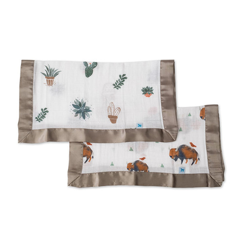 Bison & Prickle Pots Security Blankets, 2-pack