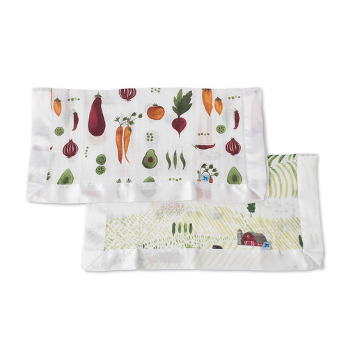 Rolling Hills & Farmers Market Security Blankets, 2-pack