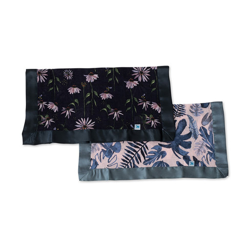 Tropical Pink & Dark Coneflower Security Blankets, 2-pack