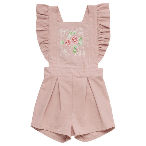 Rock Your Baby Romper, Pink Rose