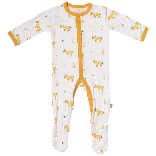 Bamboo Footed Romper, Savanna