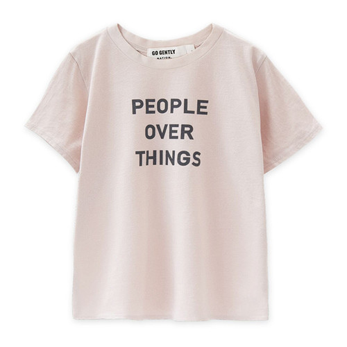 People Over Things Tee, Oatmeal