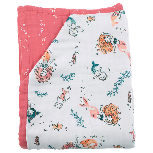 Super Snuggle Blanket, Mermaid/Bubbles