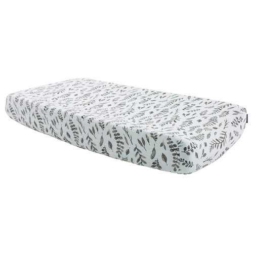 Muslin Changing Pad Cover, Leaves