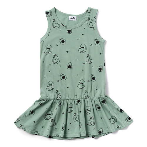 Avocados Tank Dress, Celadon