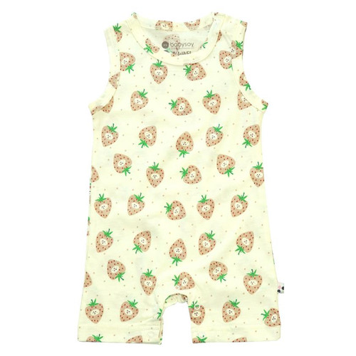 Tank Romper, Strawberry