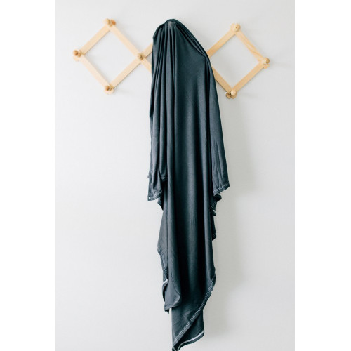 Jersey Stretch Swaddle, Charcoal