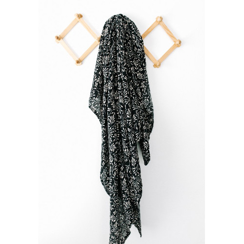 Muslin Swaddle, Black Vines