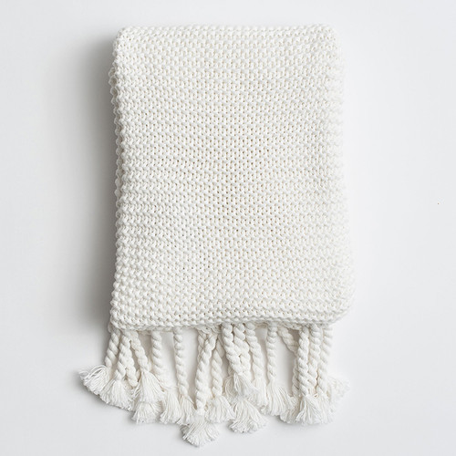 Organic Knit Throw, Soft White