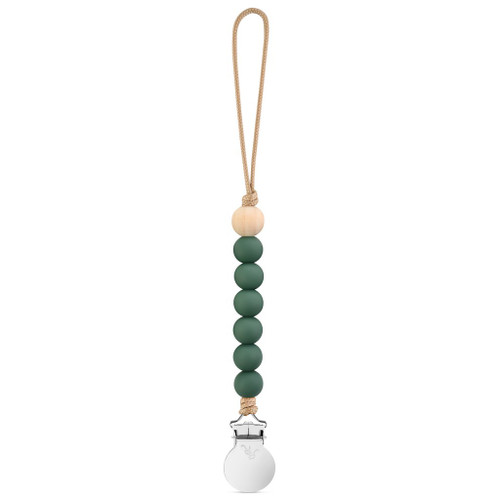 Charley Cutie Pacifier Clip, Moss