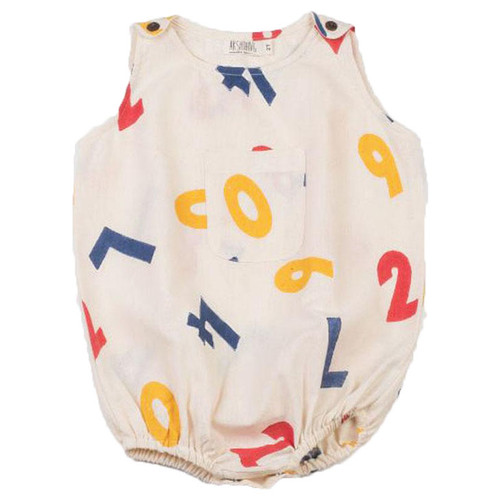 Numbers Bubble Bodysuit, Off White