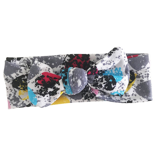 Bow Headband, Paint Splatter