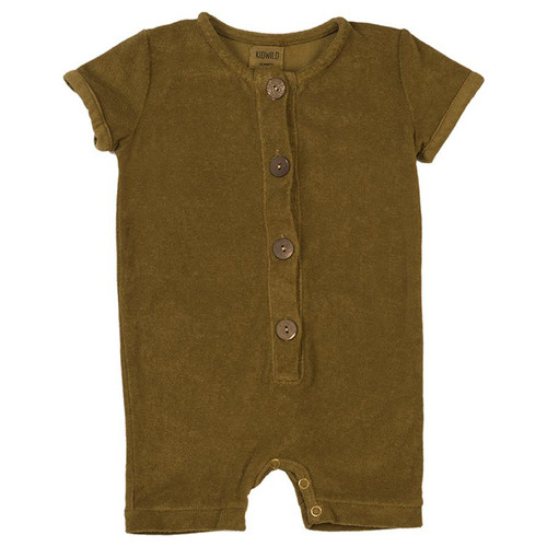 Organic Terry Romper, Curry
