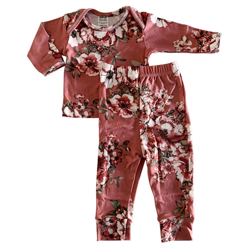 2-Piece Outfit, Dusty Rose Floral