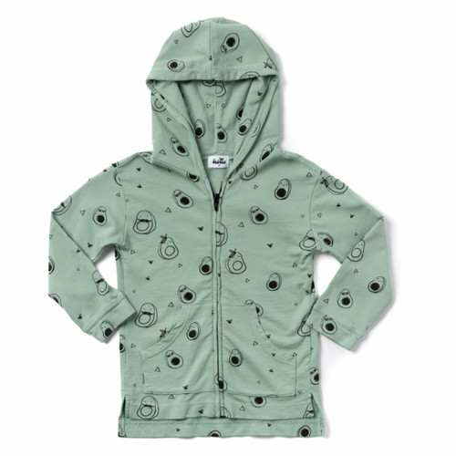 All Over Avocado Zip Hoodie
