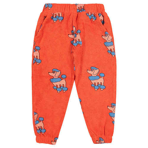 80's Sweatpants, Red Poodle