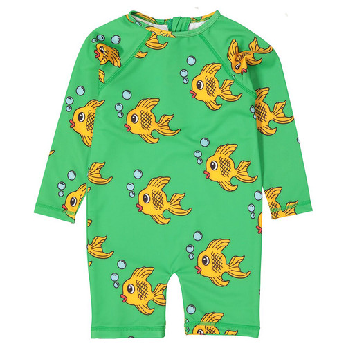 Rash Guard Suit, Green Fish