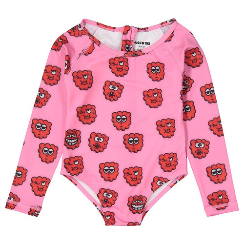 Surf Bodysuit, Pink Raspberry