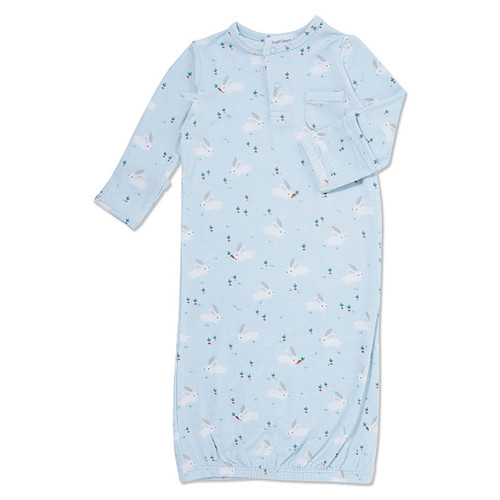 Blue Baby Bunnies Gown