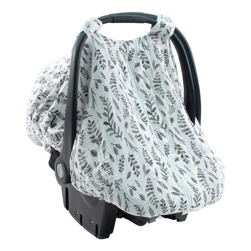 Muslin Car Seat Cover, Leaves