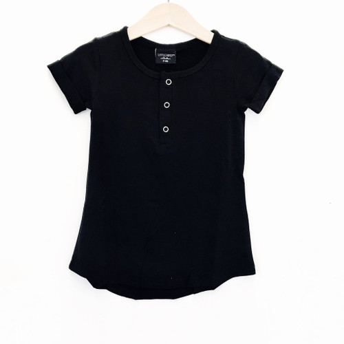 Swoop Tee Dress, Black