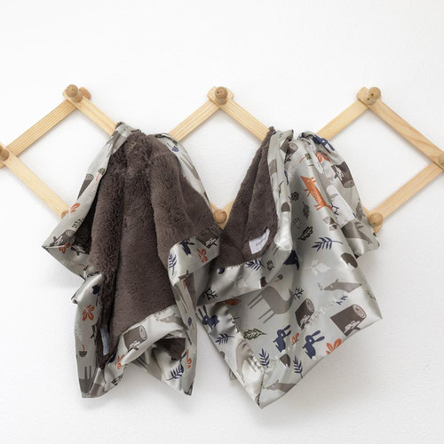 Lush Blankie, Umber Forest Friends