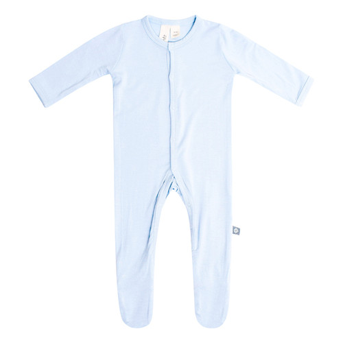 Bamboo Footed Romper, Ice