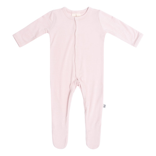 Bamboo Footed Romper, Blush