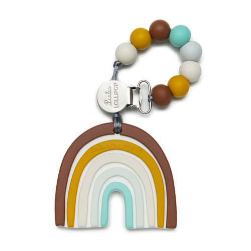 Rainbow Silicone Teether Set, Neutrals