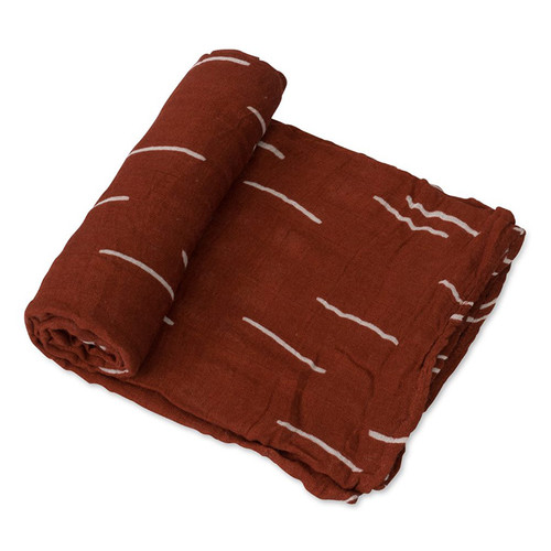 Deluxe Muslin Swaddle, Baked Clay
