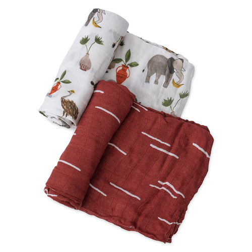 Deluxe Muslin Swaddle Set, Safari Social