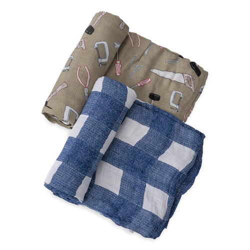 Deluxe Muslin Swaddle Set, Work Bench
