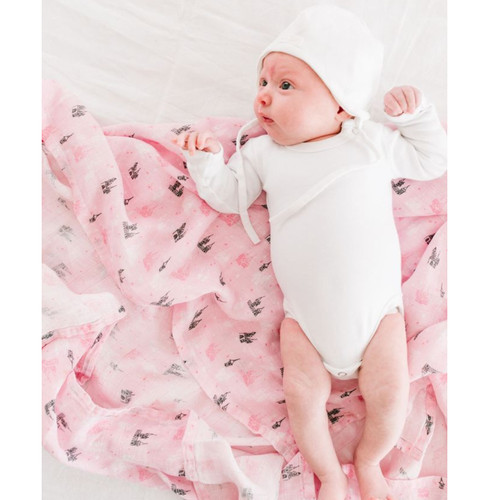 Pink Castle Bamboo Swaddle