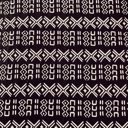 Muslin Changing Pad Cover, Black/White Mudcloth