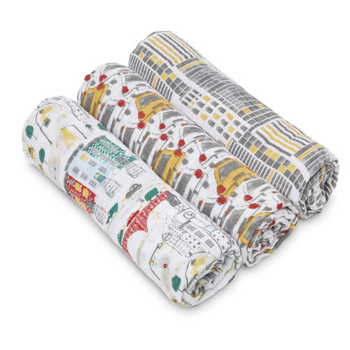 Muslin Swaddle Set, City Living