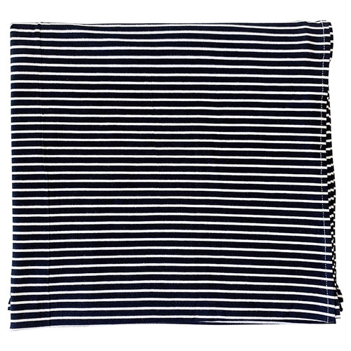 Jersey Stretch Swaddle, Black and White Stripe