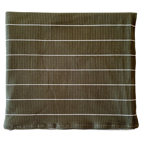 Ribbed Stretch Swaddle, Olive Thin Stripe