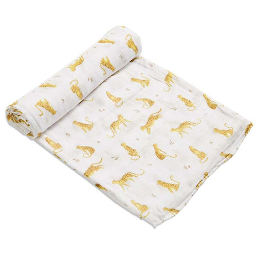 Bamboo Muslin Swaddle, Leopards