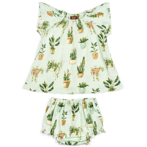 Bamboo Dress & Bloomer Set, Potted Plants