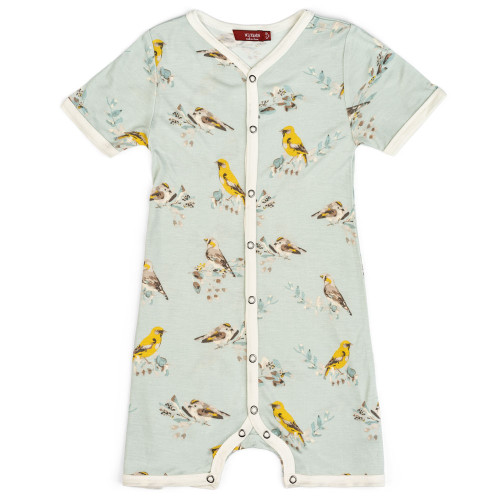 Bamboo Blue Bird Shorts Romper