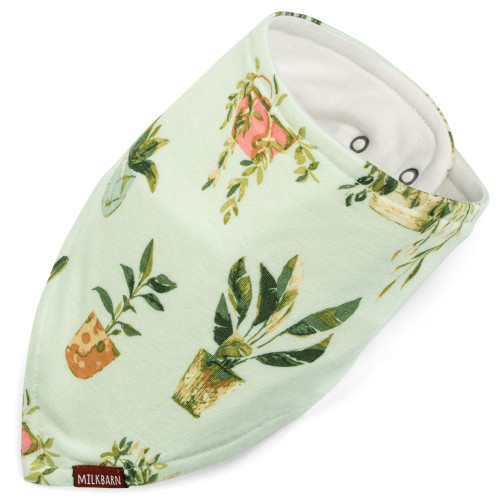 Bamboo Bandana Bib, Potted Plants