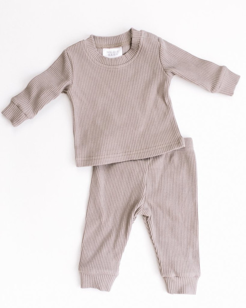 Ribbed Two Piece, Taupe