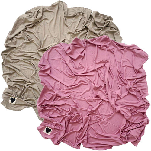 2-Pack Jersey Stretch Swaddle, Mauve & Clay