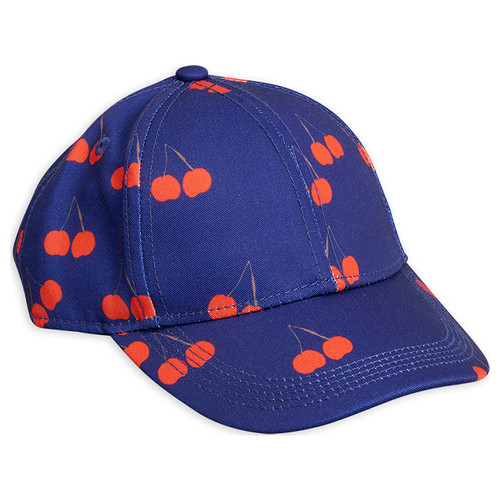 Mini Rodini Cherry Cap, Blue