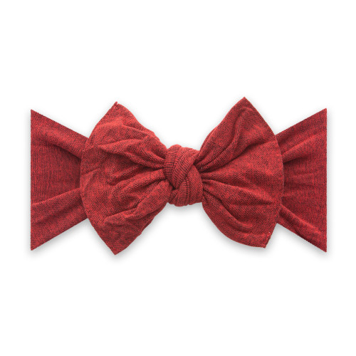 Knot Bow, Heathered Red