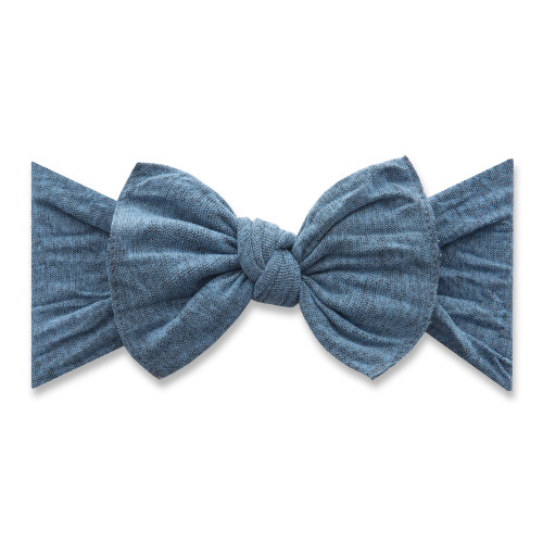 Knot Bow, Heathered Denim