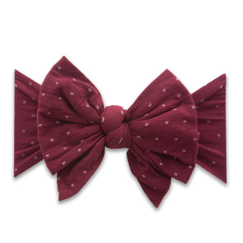 Enormous Bow, Burgundy Dot