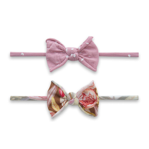 2-Pack Bow Set, Gold Peony