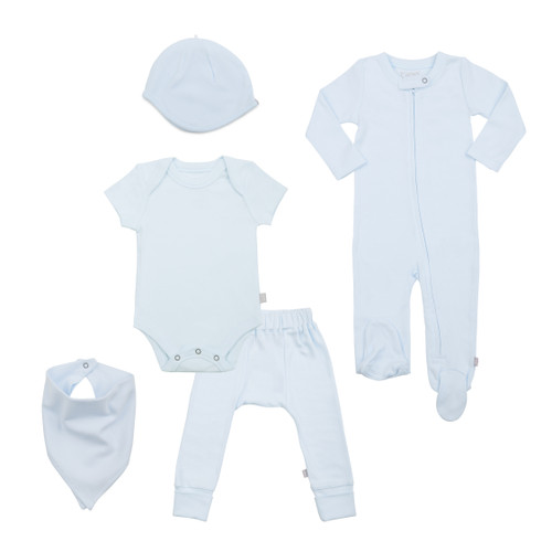 Organic Cotton Gift Set Bundle, Lt Blue