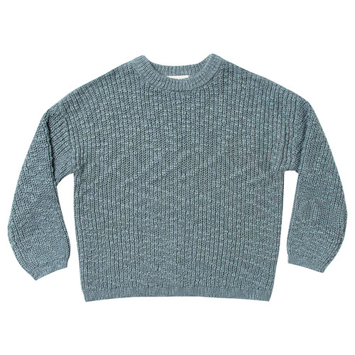 Rylee & Cru Boxy Pullover, Dusty Blue